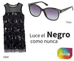 Looks de Navidad 2014.  Luce el negro como nunca #opticasflorida #Mallorca #gafas #NatureColor #moda