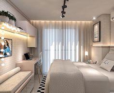 Apaixonada por esse projeto maravilhoso da Design Annelise Franco, - presença confirmada no . Romantic Bedroom Decor, Stylish Bedroom, Cozy Bedroom, Single Bedroom, Large Bedroom, Dream Rooms, Dream Bedroom, Contemporary Bedroom, Modern Bedroom