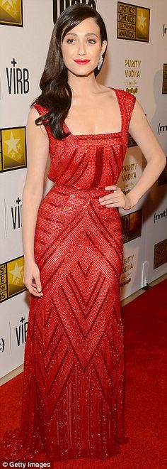 Emmy Rossum channels Old Hollywood glamor at the Critics' Choice TV Awards | Mail Online