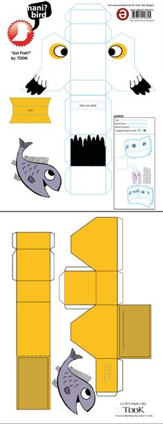 Image detail for -... model of Nani bird. A paper toy that should entertain many children