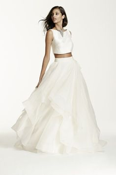 Crop-Top Wedding Dresses for Everyone: 2 On-Trend Frocks for Less Than $1,200