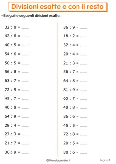 Divisioni Esatte e con Resto: Esercizi per la Scuola Primaria | PianetaBambini.it Math Crafts, Math Worksheets, Fun Math, Art Education, Pixel Art, Homeschool, Learning, Mamma, Gabriel