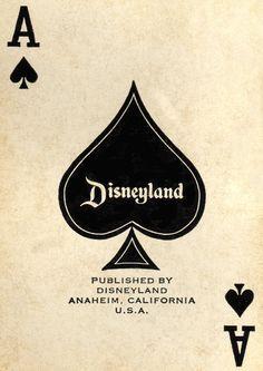 Disneyland player cards, 1966.