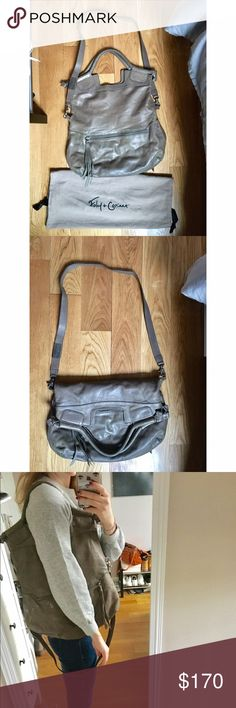 "Foley + Corinna Mid City Tote - Taupe/Grey Gently used - in great condition. Foldable tote/convertible shoulder bag. Comes with original dust bag. 15x1x15.""; 16"" strap. Foley + Corinna Bags Totes"