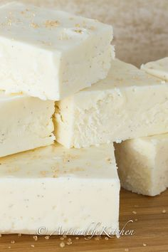 Incredible recipe for Eggnog Fudge. This rich and creamy fudge has the perfect balance of spice, sweetness and smoothness.