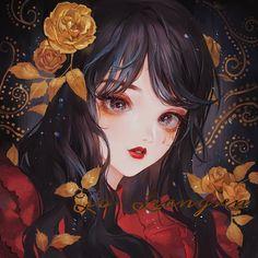 ღWorld Of Illustrationsღ Manga Girl, Manga Anime, Pretty Anime Girl, Kawaii Anime Girl, Anime Art Girl, Fantasy Kunst, Fantasy Art, Pretty Art, Cute Art