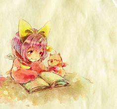 Eiko & Moogle. Final Fantasy IX