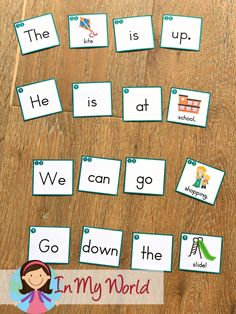 FREE Sight Words and - AP Word Family Worksheets & Activities - Sight Words and Word Families Week 4 – In My World. FREE build a sentence activity. Sight Word Sentences, Sight Words, Professor, First Week Of School Ideas, Handwriting Books, First Grade Freebies, Word Family Activities, Family Worksheet, Nonsense Words