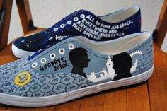 Another Pair Of Shoes Sent Out From My Etsy Shop Today! {For Link Click On Picture} <~~~~awesome! I want the sherlock ones!!!