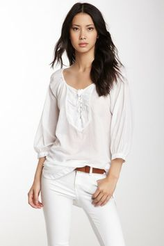 Embroidered Long Sleeve Silk Blend Tunic by Da-Nang on @HauteLook