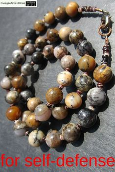 MERLINIT Dendritenopal SPINY OYSTER KETTE Merlinite Necklace *Selbstverteidigung Beaded Bracelets, Necklaces, Opal, Healing, Gemstones, Jewelry, Self Defense, Chain, Jewels