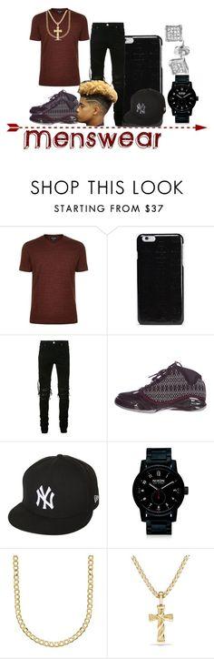 """Men's Swag"" by jaliyahk ❤ liked on Polyvore featuring Giorgio Armani, Maison Margiela, AMIRI, NIKE, New Era, Nixon, Lord & Taylor, David Yurman, men's fashion and menswear"