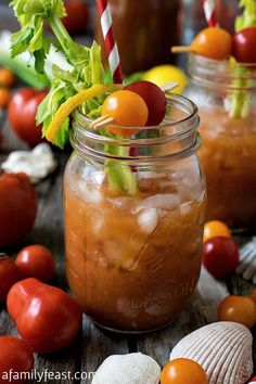 Nautical Mary - A delicious coastal twist on a classic Bloody Mary cocktail! Delicious!
