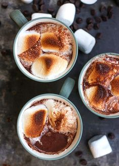Broiled Bailey's Hot Chocolate will warm you up on chilly winter nights. Plus other hot chocolate recipes Cocoa Recipes, Hot Chocolate Recipes, Best Chocolate, Chocolate Smoothies, Chocolate Shakeology, Chocolate Mouse, Chocolate Chocolate, Chocolate Crinkles, Chocolate Drizzle