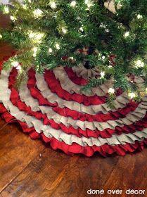 No sew ruffled tree skirt. I *will* be making this!!! Love it!