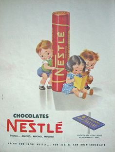 Sweets and chocolates have been around forever! This post takes a look at vintage and retro advertisements of some of our favorite treats, past and present. These advertisements range from the very. Vintage Advertising Posters, Old Advertisements, Advertising Ads, Vintage Candy, Retro Vintage, Vintage Toys, Nestle Chocolate, Nostalgia, Retro Housewife