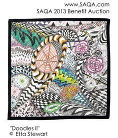 Art quilt by Etta Stewart Zentangle, Bing Images, Doodles, Auction, Art Quilting, Quilts, Gallery, Artwork, Benefit