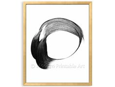Abstract Circles Painting INSTANT DOWNLOAD, Geometric Wall Art, Black White Art, Geometric Instant Download, Circle Print, Modern Art