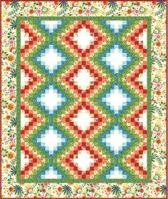 Happy Garden Quilt Pattern by Kona Bay Fabrics