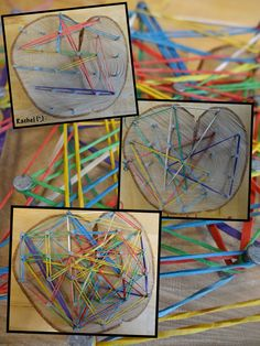 """Lines on the natural geoboard from Rachel ("""",)"""