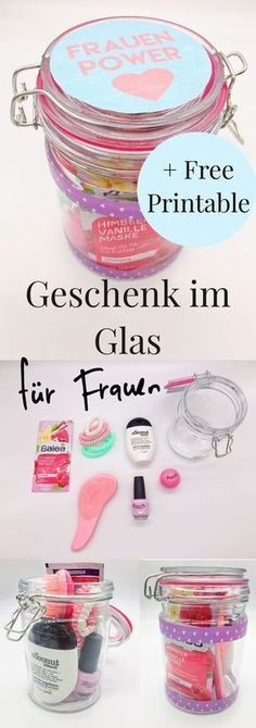 - DIY Geschenke im Glas selber machen Beautiful DIY Gift Ideas for Women: Gifts in Glass! Nice idea for the birthday to make yourself for the best friend or mom. DIY gifts in glass to assemble by yourself. Diy Gifts In A Jar, Diy Gifts For Friends, Easy Diy Gifts, Jar Gifts, Creative Gifts, Creative Ideas, 5 Senses Gift, Diy Beauty, Beauty Tips