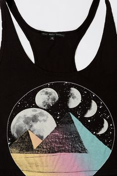 Truly Madly Deeply Mystic Pyramids Cropped Tank Top