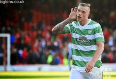 Aberdeen 1-2 Celtic, 9th November 2014. John Guidetti celebrates at full-time.