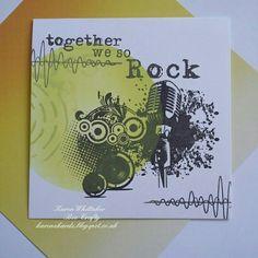 Bee Crafty Microphone and Together We So Rock stamps x  #beecraftystamps #dtsample #microphone #rock #soundwaves #music #inkables #dinkables #distressoxides #stamps #stamping #card #creative #craft #ilovetocraft #creativity #karenzkardz