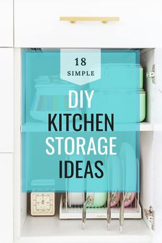 There are a few kitchen storage hacks that can help you make the most out of your space and not mix up your stuff. These hacks will ensure that you customize your area to be uniquely yours. It is enough pain to cook in a kitchen that doesn't have enough space; you shouldn't compound that pain by not knowing where what you need is. Kitchen Storage Hacks, Kitchen Hacks, Kitchen Organization, Storage Ideas, Kitchen Ideas, Cheap Diy Home Decor, Diy Kitchen Decor, Simple Diy, Easy Diy