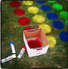 Fun do it yourself birthday game. Do with Glow Paint or necklaces for Glow in the Dark Party