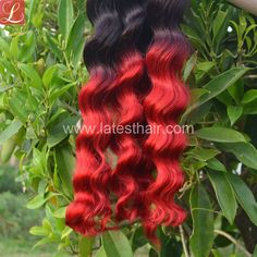 #1b/red,black red ombre hair weaves, loose wave two tone human hair,shop from www.latesthair.com/ Ombre Hair Weave, Red Ombre Hair, Blond, Ombre Human Hair Extensions, Silver Grey Hair, Hair Shop, Hair Shades, Bad Hair, Weave Hairstyles