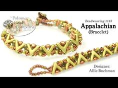 """Designer Allie Buchman teaches you how to make her """"Appalachian Bracelet"""" using the new AVA® Bead, Potomac Crystal Rondelles, & Ios® Par Puca® beads.  Find all supplies at www.potomacbeads.com."""