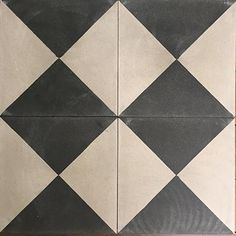 Grey and Black Check Antique Reproduction Encaustic Tile Machuca Tiles, Fireplace Hearth Tiles, Old Apartments, Cubby Houses, Antique Tiles, Encaustic Tile, Interior Styling, Flooring, Downstairs Bathroom