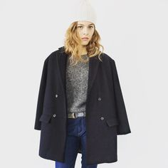 #Soeur #AW15 #AW16 #collection #newin #selectedstores #irishowroom Blue Coats, Duster Coat, Navy Blue, Normcore, Jackets, French, Lifestyle, Collection, Blog