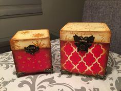 Cajas decorativas navideñas
