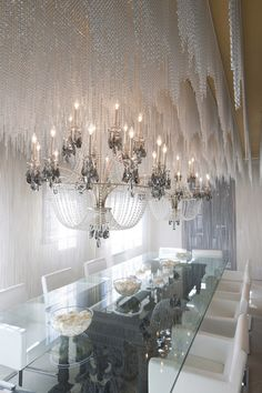 La Scala chandeliers featured in the House of Rock Showhouse, Santa Monica, CA. Great Room designed by David Bromstad.