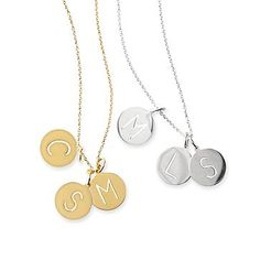 Layered 3-Disc Initial Necklace: Mark and Graham #makeyourmark