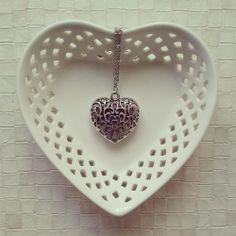 Antique Silver Heart Necklace via choc.hotlate. Click on the image to see more!