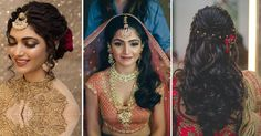 Indian bridal hairstyles, Bridal ghoonghat, indian wedding hairstyles   Pretty hair dos to try with a bridal ghoonghat