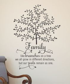 'family Like Branches' Wall Quote