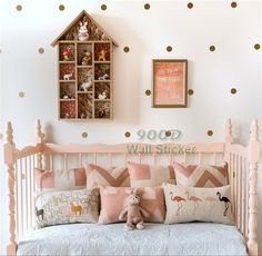 60 pcs Little Polka Dots Wall Decal Stickers, Removable home decoration art Wall decors Free Shipping-in Wall Stickers from Home & Garden on Aliexpress.com | Alibaba Group