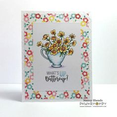 Cuppa Buttercups Digital Stamp Set | Power Poppy by Marcella Hawley