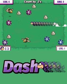 Practice skip counting with our new character, Dash! Click (or tap) anywhere on the screen to help Dash collect the power cells in the correct order. Skip Counting Games, Educational Games For Kids, Character, Educational Games For Children, Kids Educational Games, Lettering