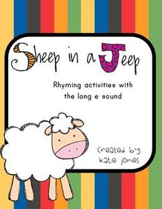 FREE Sheep in a Jeep activities - great for rhyming and long e practice