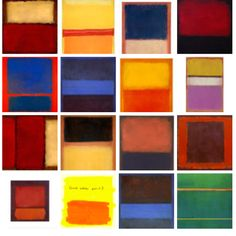 Mark Rothko played with every colour configuration he could come up with.  http://www.markrothko.org/