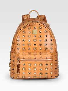 The Backpack. Studded Stark Backpack by MCM. Mcm Handbags, Burberry Handbags, Handbags Online, Chanel Handbags, Online Bags, Purses Online, Online Outlet, Mcm Backpack, Studded Backpack