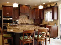 Kitchen Cabinets With Black Granite Countertop Cherry   Kitchen ...