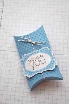 Blue Pillow Box