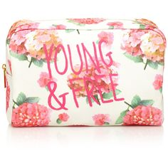 Forever 21 Floral Print Cosmetic Case ($8.90) ❤ liked on Polyvore featuring beauty products, beauty accessories, bags & cases, bags, makeup, beauty, makeup bags, accessories, travel bag and floral cosmetic bag