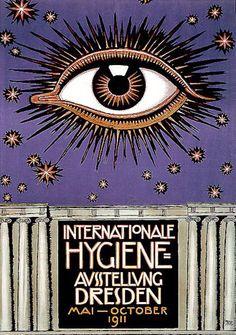 soyouthinkyoucansee:  International Hygiene Exhibition, Dresden (1911) Artist: Franz Von Stuck (1863-1928)
